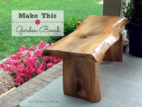 DIY Garden Bench