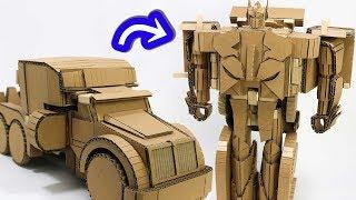 Cardbord DIY  Speed Change TRANSFORMERS  スピードチェンジ、トランスフォーマー作った! thumbnail
