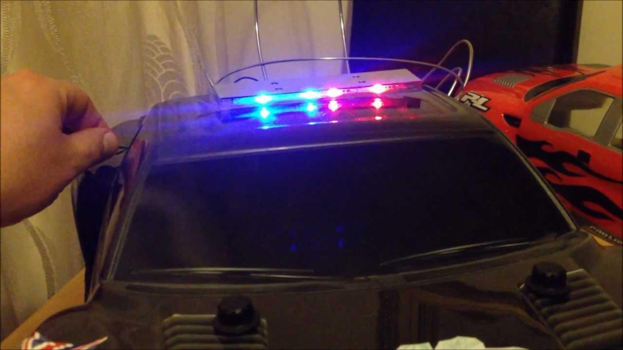 RC POLICE LED BAR KIT  YouTube