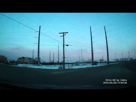 Cobra Drive HD Dash Cam Sample Footage (Model CDR 825E)