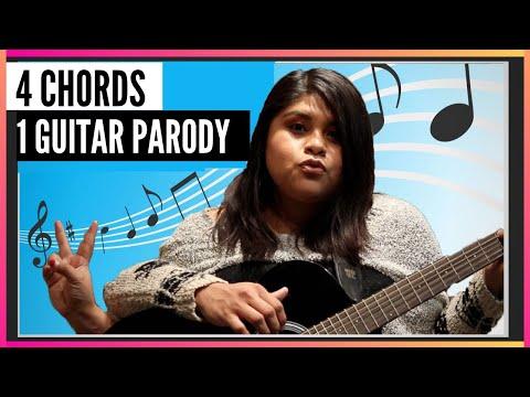 4 Chords 1 Guitar Parody - Guitar Lesson - The Amateur YouTuber