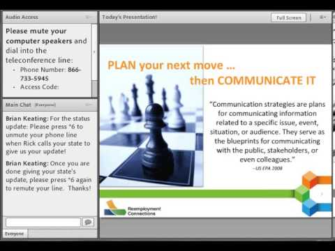 Reemployment Connections: Strategic Planning Check-In Communications Strategies
