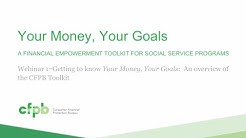 Your Money, Your Goals: An overview of the toolkit