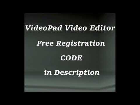 nch videopad registration code 2018