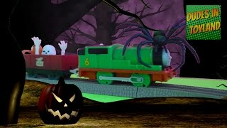 happy halloween adventure with thomas and friends toys percy trackmaster ghost train videos
