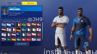 *NEW* CUSTOMIZABLE FOOTBALL PLAYER SKIN (All Countries)! Fortnite Battle Royale