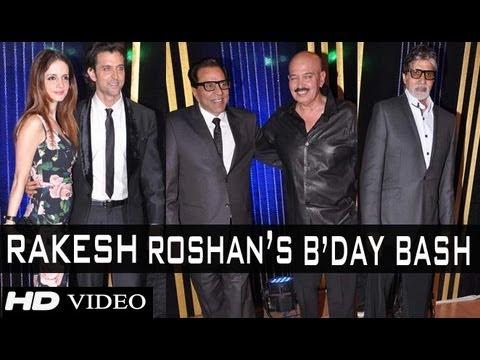 Amitabh Bachchan, Hrithik Roshan, Dharmendra, Rekha And Others At Rakesh Roshan's Birthday Bash