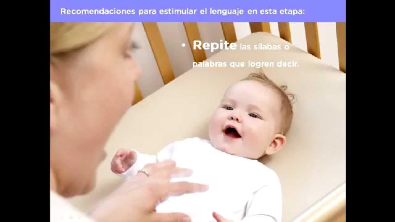 Desarrollo del lenguaje en beb s de 4 a 6 meses youtube - Bebe de 6 meses ...