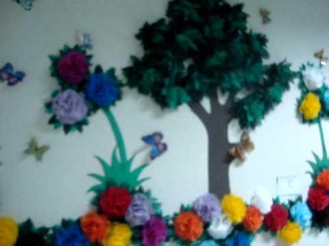 Painel Com Flor De Tnt Youtube