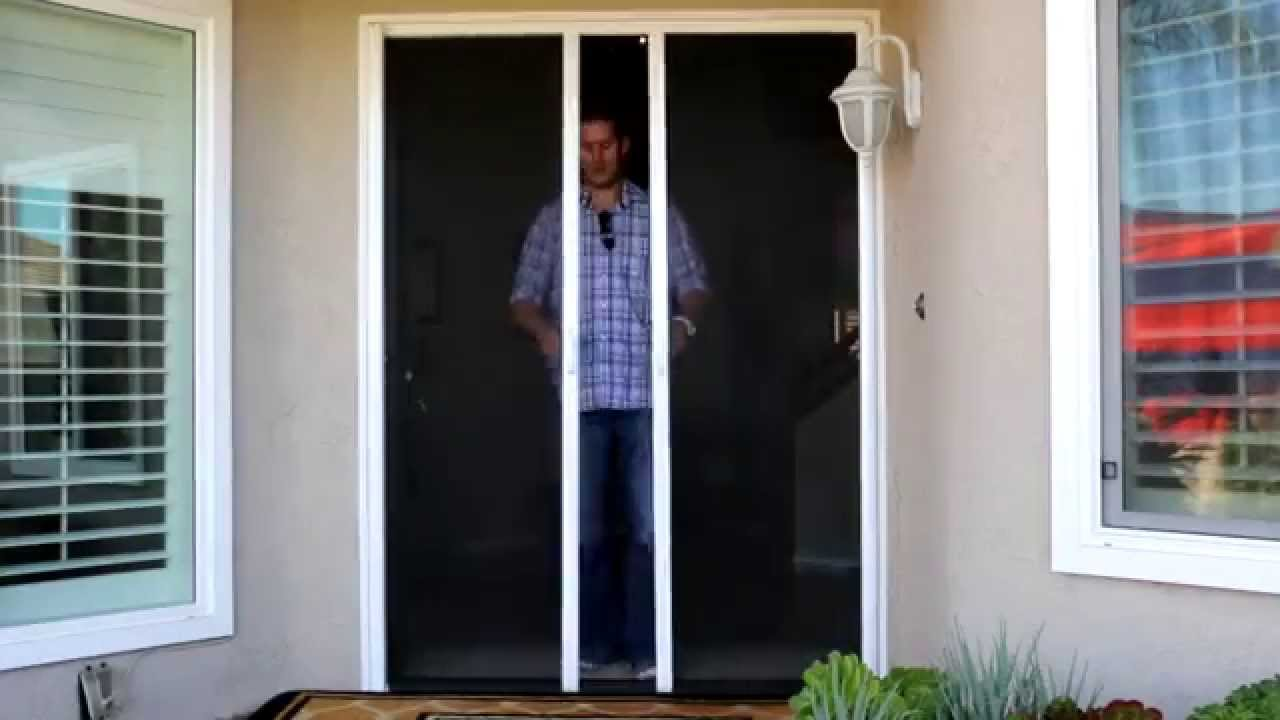 Merveilleux Stowaway Retractable Screen Doors By Classic Improvement Products   YouTube