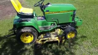 The John Deere 445 and 60 inch mower