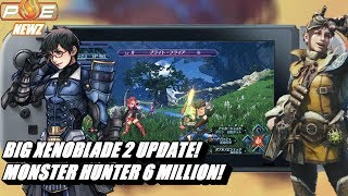 Massive Xenoblade 2 Update Adds New Game+ & MORE! Monster Hunter World Tops 6 Million! | PE NewZ