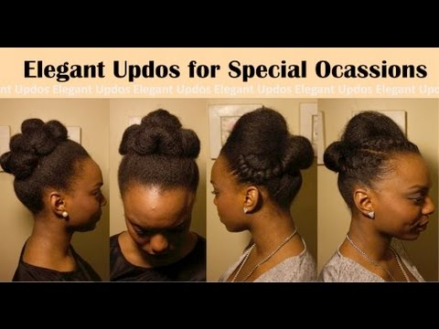 Simple Elegant Special Event Hairstyles For Natural Hair Youtube