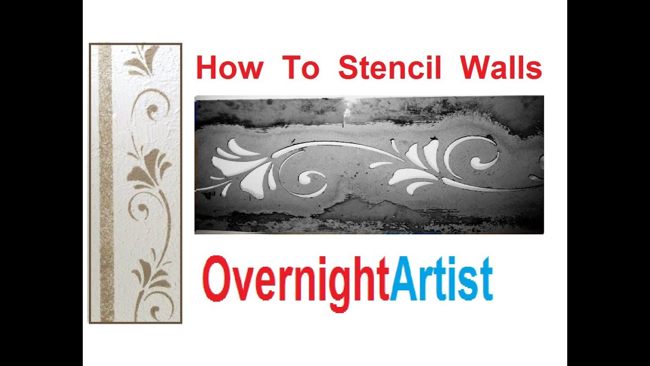 Wall stencils how to wall stencil easy step by step youtube amipublicfo Gallery