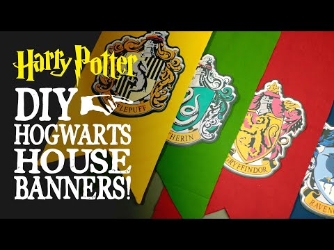 Hogwarts House Banners - Harry Potter DIY Decorations