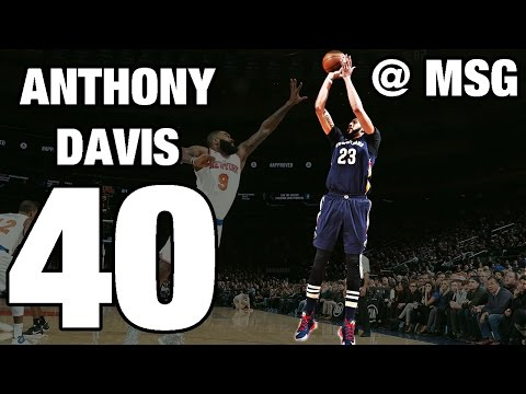 Anthony Davis Drops 40 and 18 in The...