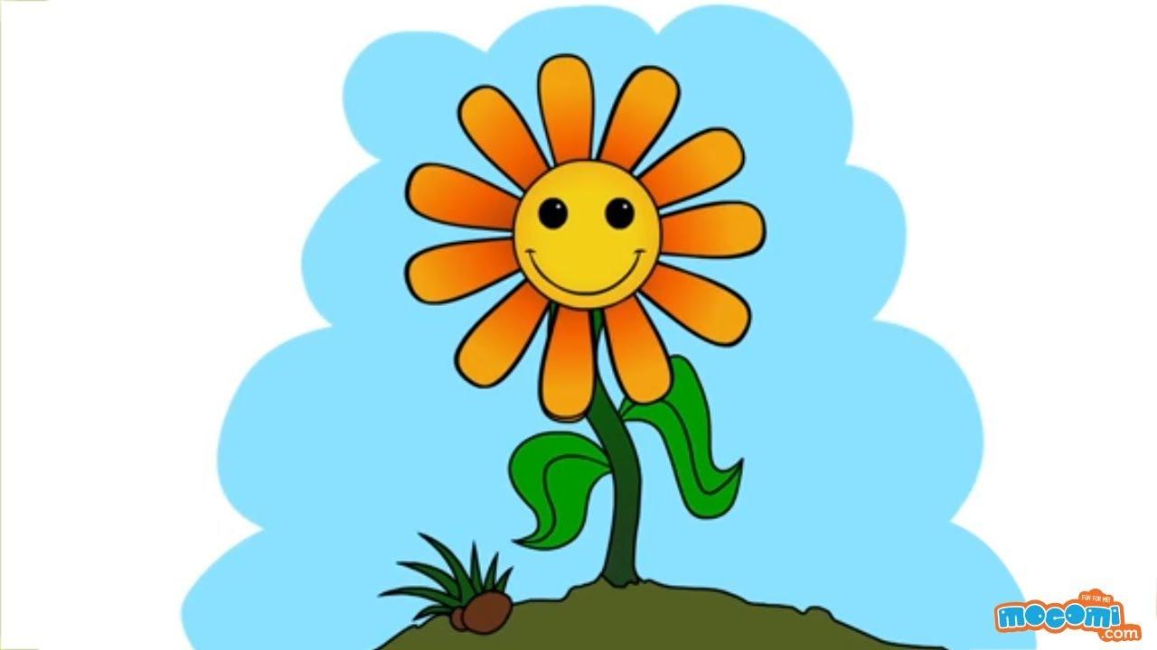 How to Draw a Sunflower - Step By Step Drawing for Kids ...