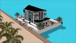 arkkitehti insinööri talo urban finlandia sketchup arkkitehtuuri kelluva talo huvila Asuntolaiva ark