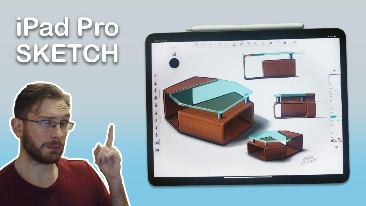 Ipad Pro Furniture Sketch Youtube