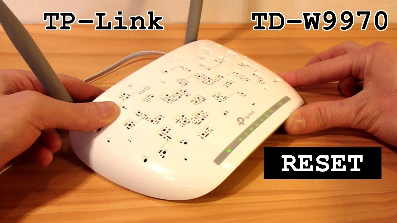 TP-Link TD-W9970 Modem Router Wi-Fi • Factory Reset