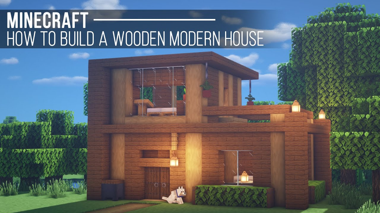 A Wooden Modern House Minecraft Map