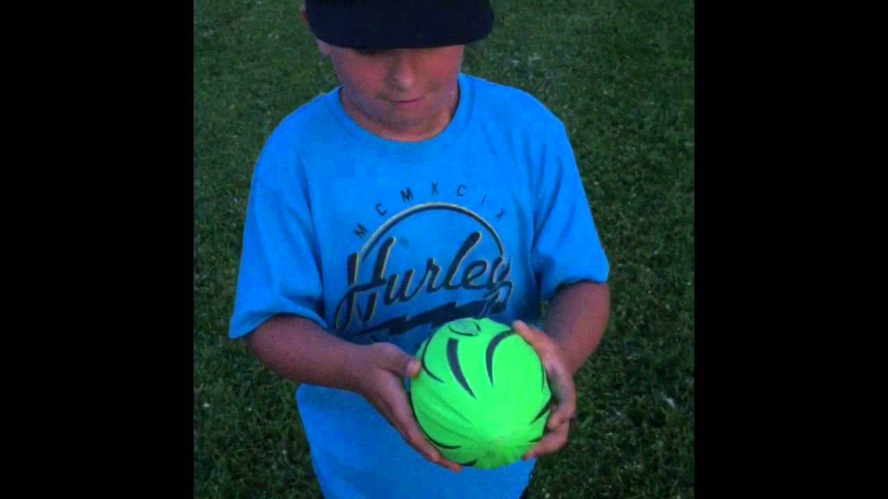 Nerf fire vision glow in the dark football. First video. Watch this ...