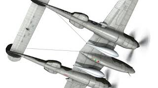 3D Model of Lockheed P-38 Lightning - Journeys End Review