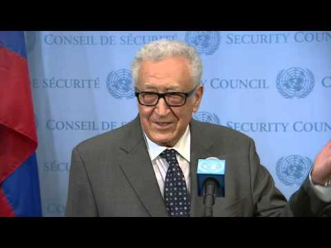 Syria: Lakhdar Brahimi   Security Council Media Stakeout   May 13, 2014