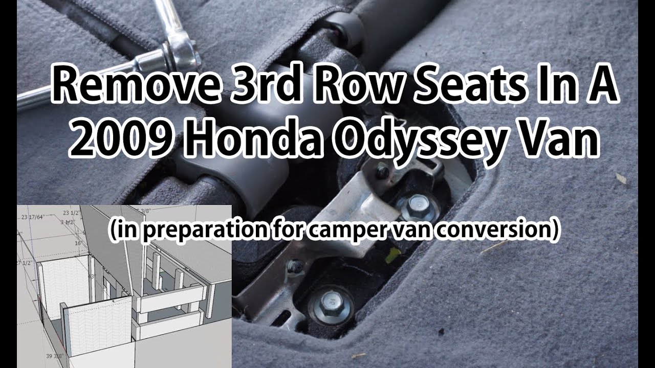 how to remove 3rd row rear seats from honda odyssey youtube. Black Bedroom Furniture Sets. Home Design Ideas