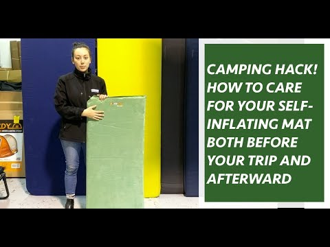 How To Take Care of your Self Inflating Mattress.  Camping Tips!