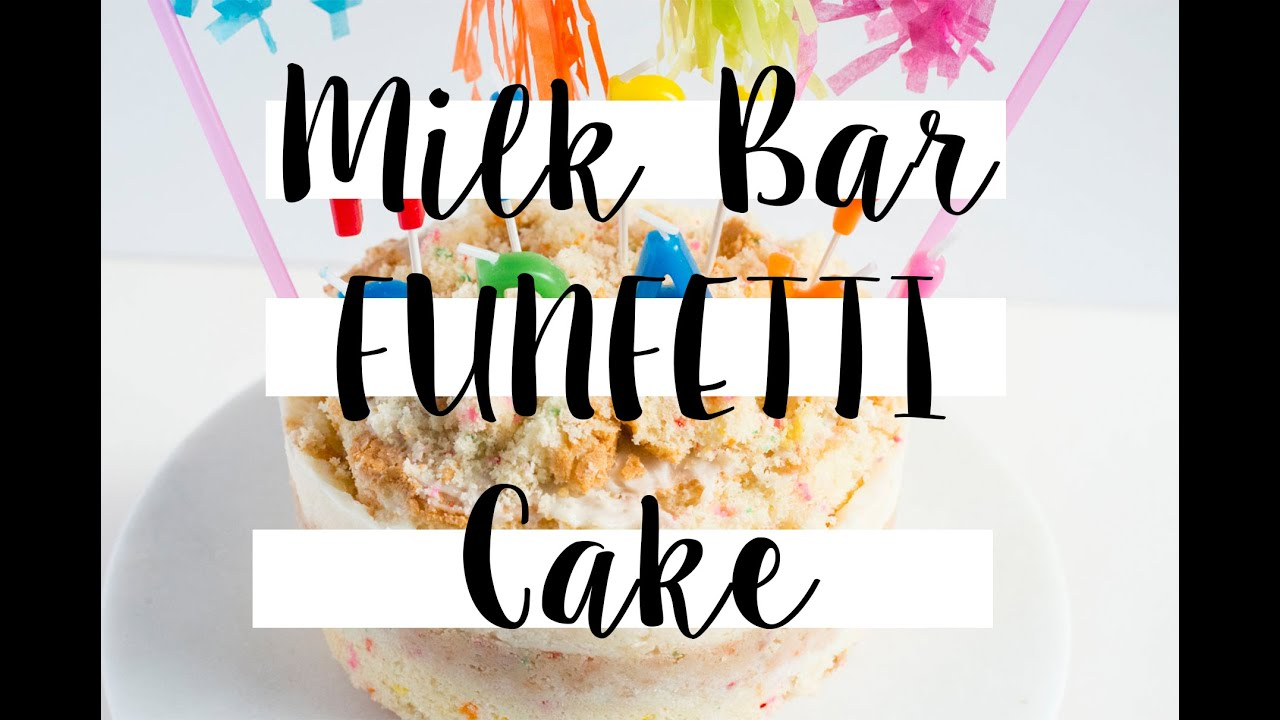 Momou Milk Bar Funfetti Birthday Cake Video