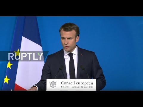 LIVE: Macron holds press briefing in Brussels (ORIGINAL)