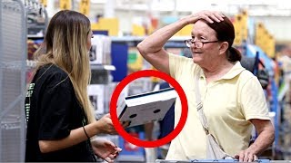 PULLING THINGS FROM PEOPLES HAIR PRANK 2!!