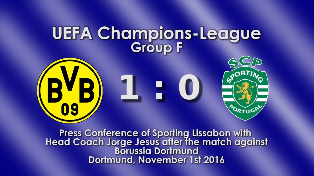 Borussia Dortmund - Sporting Lissabon: Pressekonferenz mit Jorge Jesus