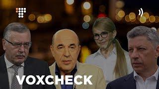 VoxCheck тижня #39: Тимошенко, Бойко, Рабінович, Гриценко про держборг