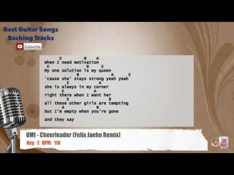 OMI - Cheerleader (Felix Jaehn Remix) Vocal Backing Track with chords and lyrics