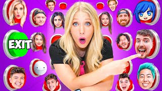 100 YouTuber Mystery Buttons but Only One Lets You Escape...