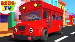 Wheels On The Bus | Baby Bao Panda Cartoons | Nursery Rhymes & Children Songs - Kids TV