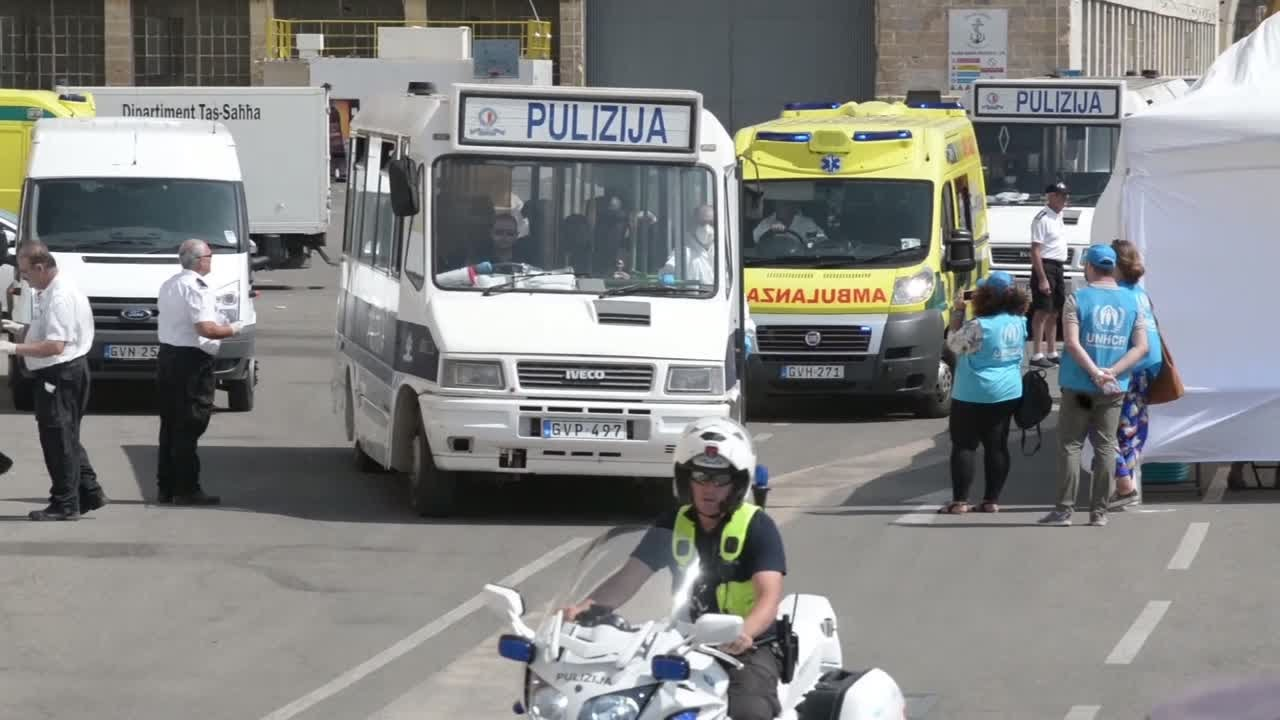 فرانس 24:Aquarius rescue boat docks in Malta after days stranded