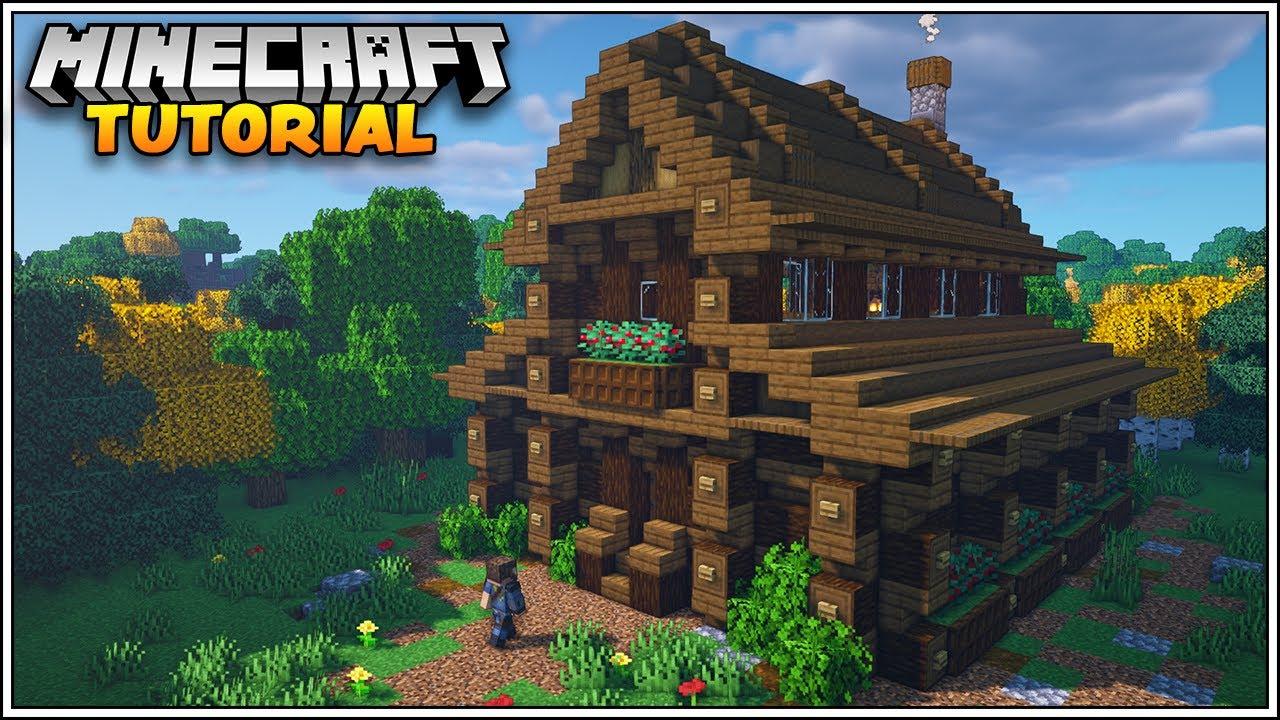 Minecraft 8.86 Storage House Tutorial [How to Build]