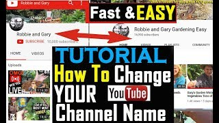 EASY How To Change YOUR YouTube Channel Name on Computer Laptop mobile phone tablet 2019