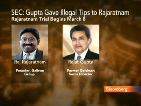 SEC Says Ex-Goldman Director Gupta Tipped Rajaratnam
