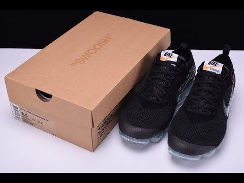 d87913381ba Off White x Nike Air VaporMax Black White AA3831 002 - YouTube