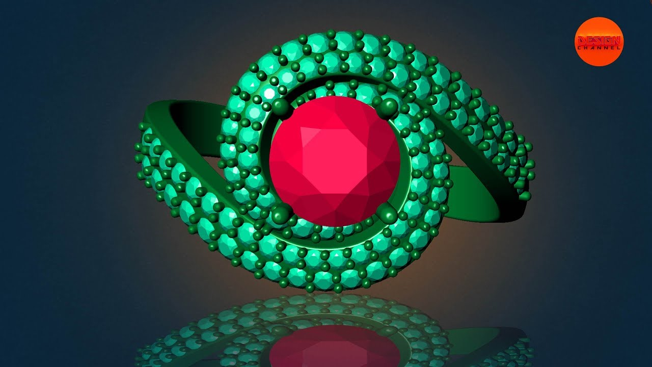 How to create 3D gemvision jewelry design matrix8 || Design Channel