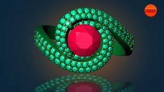 كيفية إنشاء 3D gemvision تصميم المجوهرات matrix8 || تصميم قناة