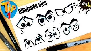 Cómo dibujar ojos  / how to draw Eyes /TIP # 1 Easy Art