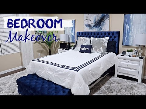 BEDROOM MAKEOVER + Room Tour   Clean With Me   Decorate With Me