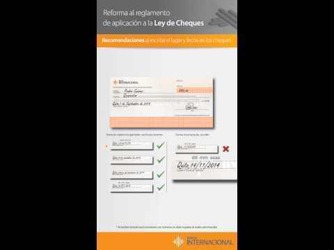 Banco internacional ley de cheques p youtube for Banco internacional