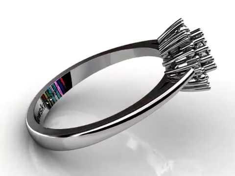 Złoty Pierścionek Zaręczynowy Z Diamentami P15077b Www
