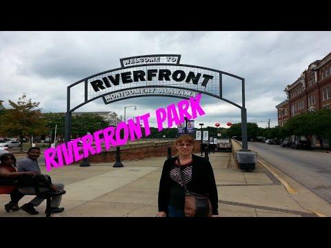 Walking around Riverfront Park in Montgomery Alabama